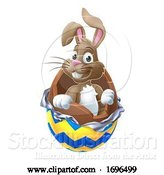 Vector Illustration of Easter Bunny Chocolate Egg by AtStockIllustration