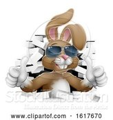 Vector Illustration of Easter Bunny Cool Rabbit Sunglasses Thumbs up by AtStockIllustration