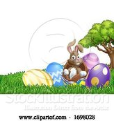 Vector Illustration of Easter Bunny Rabbit Breaking out of Egg by AtStockIllustration
