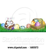 Vector Illustration of Easter Bunny Rabbit Chocolate Eggs by AtStockIllustration