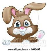 Vector Illustration of Easter Bunny Rabbit Sign by AtStockIllustration