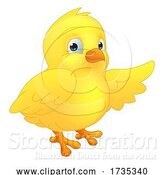 Vector Illustration of Easter Chick Chicken Character Mascot by AtStockIllustration