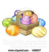 Vector Illustration of Easter Eggs Basket Hamper by AtStockIllustration