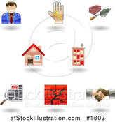 Vector Illustration of Eight Real Estate Icons by AtStockIllustration