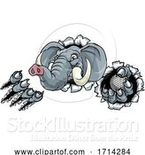 Vector Illustration of Elephant Golf Ball Sports Animal Mascot by AtStockIllustration