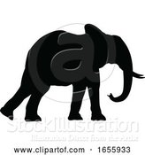 Vector Illustration of Elephant Silhouette by AtStockIllustration