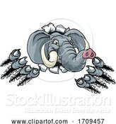 Vector Illustration of Elephant Sports Animal Mascot by AtStockIllustration
