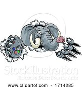 Vector Illustration of Elephant Video Games Controller Gamer Mascot by AtStockIllustration