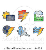Vector Illustration of Energy and Electricity Icons by AtStockIllustration