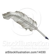 Vector Illustration of Feather Quill Pen by AtStockIllustration