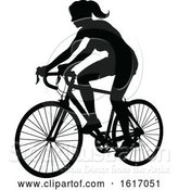 Vector Illustration of Female Cyclist by AtStockIllustration