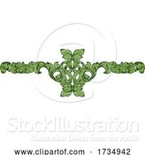 Vector Illustration of Filigree Leaf Pattern Floral Scroll Pattern by AtStockIllustration