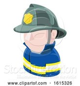 Vector Illustration of Firefighter Avatar People Icon by AtStockIllustration