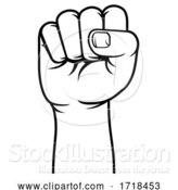 Vector Illustration of Fist Propaganda Protest Revolution Hand Raised up by AtStockIllustration