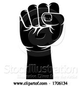 Vector Illustration of Fist Propaganda Protest Revolution Hand Sign by AtStockIllustration