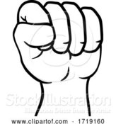 Vector Illustration of Fist up Hand Punch Icon by AtStockIllustration