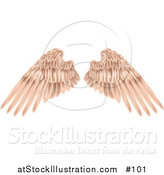 Vector Illustration of Flesh Colored Angel Wings by AtStockIllustration