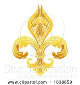 Vector Illustration of Fleur De Lis Gold Graphic Design by AtStockIllustration