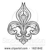 Vector Illustration of Fleur De Lis Graphic Design Element by AtStockIllustration