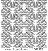 Vector Illustration of Floral Motif Scroll Pattern Seamless Tile by AtStockIllustration
