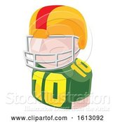 Vector Illustration of Football Player Avatar People Icon by AtStockIllustration
