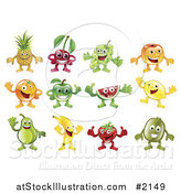 Vector Illustration of Fruit Characters by AtStockIllustration