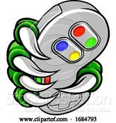 Vector Illustration of Gamer Claw Video Game Controller Monster Hand by AtStockIllustration