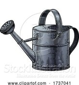 Vector Illustration of Garden Watering Can Gardening Tool Vintage Woodcut by AtStockIllustration
