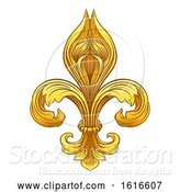 Vector Illustration of Gold Fleur De Lis Graphic Design by AtStockIllustration