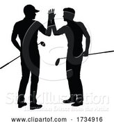 Vector Illustration of Golfer Golf Sports People in Silhouette by AtStockIllustration