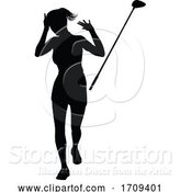 Vector Illustration of Golfer Golf Sports Person Silhouette by AtStockIllustration