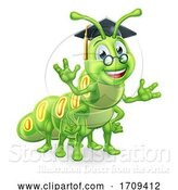 Vector Illustration of Graduate Caterpillar Book Worm by AtStockIllustration