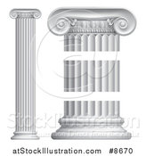 Vector Illustration of Greek or Roman Column Pillars by AtStockIllustration