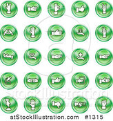 Vector Illustration of Green Hand Gesture Icons by AtStockIllustration