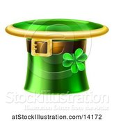 Vector Illustration of Green St Patricks Day Leprechaun Hat with a Shamrock by AtStockIllustration