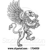 Vector Illustration of Griffon Rampant Gryphon Coat of Arms Crest Mascot by AtStockIllustration