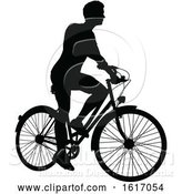 Vector Illustration of Guy Riding a Bike by AtStockIllustration