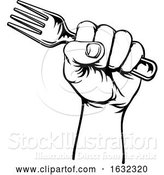 Vector Illustration of Hand Holding Fork by AtStockIllustration