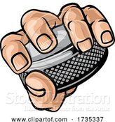 Vector Illustration of Hand Holding Ice Hockey Puck by AtStockIllustration