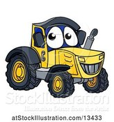 Vector Illustration of Happy Cartoon Tractor Character Mascot by AtStockIllustration
