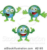Vector Illustration of Happy Globes by AtStockIllustration