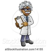 Vector Illustration of Happy Male Scientist or Doctor Holding a Clip Board by AtStockIllustration