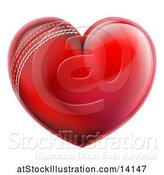 Vector Illustration of Heart Shaped Cricket Ball by AtStockIllustration