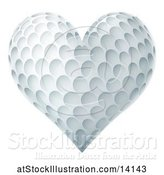 Vector Illustration of Heart Shaped Golf Ball by AtStockIllustration