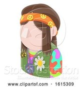 Vector Illustration of Hippy Hipster Guy Avatar People Icon by AtStockIllustration