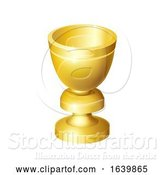 Vector Illustration of Holy Grail Cup Gold Chalice Goblet by AtStockIllustration