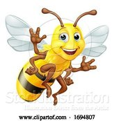 Vector Illustration of Honey Bumble Bee Bumblebee Character by AtStockIllustration
