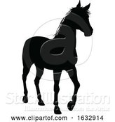 Vector Illustration of Horse Animal Silhouette by AtStockIllustration