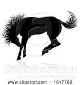 Vector Illustration of Horse Animal Silhouette, on a White Background by AtStockIllustration