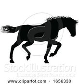 Vector Illustration of Horse Silhouette Animal by AtStockIllustration